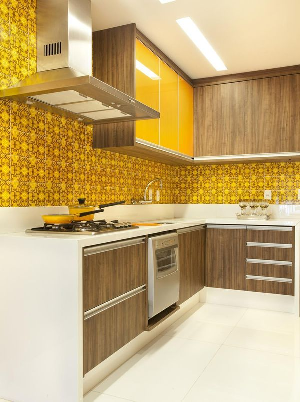 cores de parede na decoração cozinha amarelo - cores de tintas