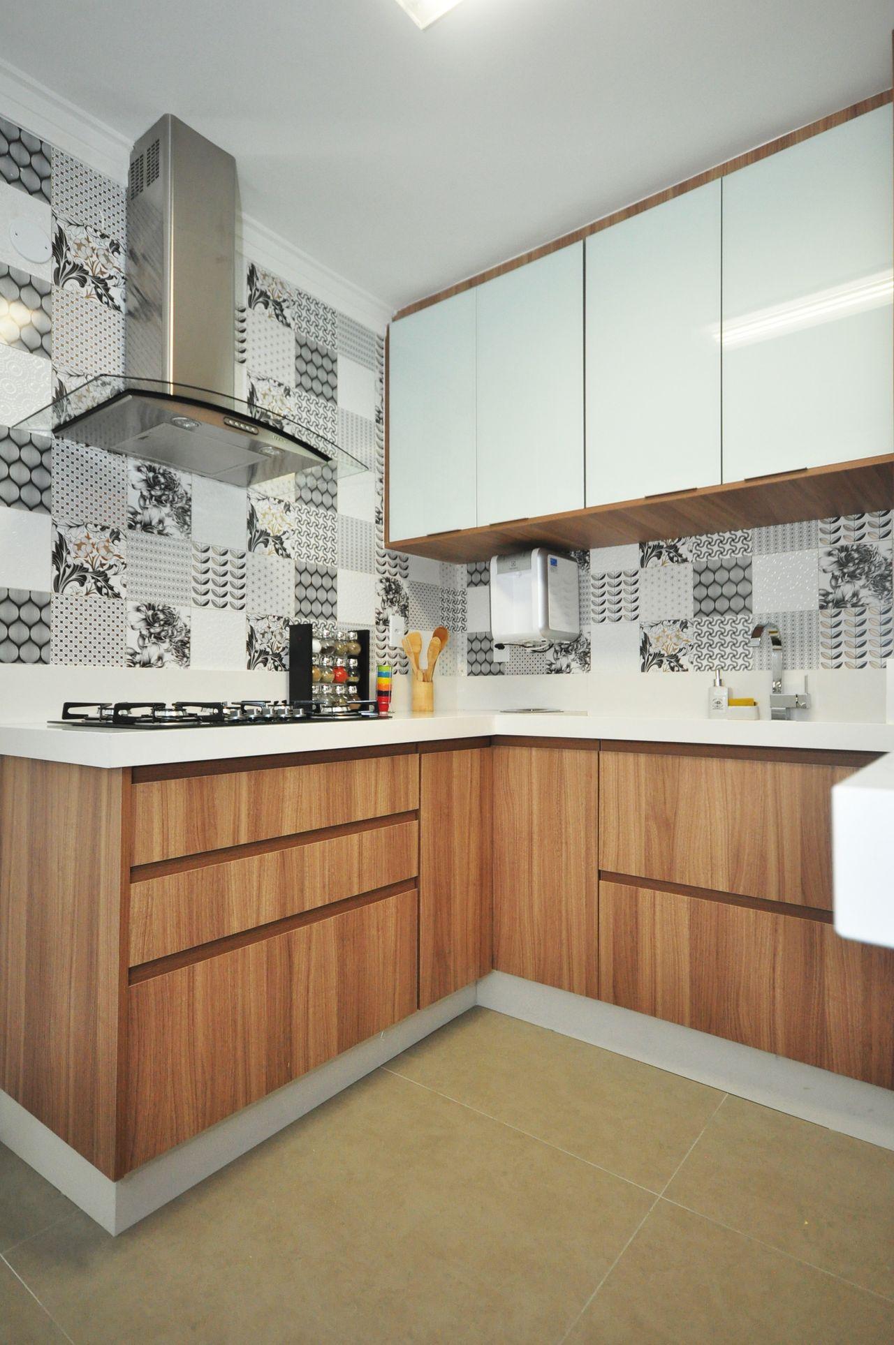 Cozinha Com Coifa De A O Inox E Azulejo Decorativo De Condecorar