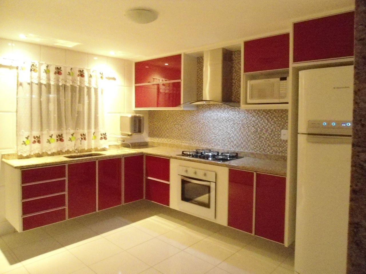 Cozinha Planejada Vermelho E Branco Oppenau Info