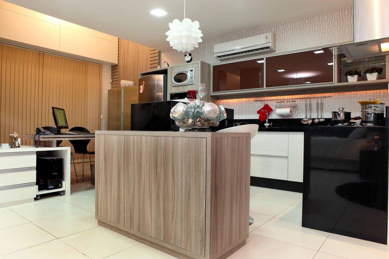 Cozinha Com Ilha E Baleiro Retr De Amaury Junior 17333 No Viva Decora