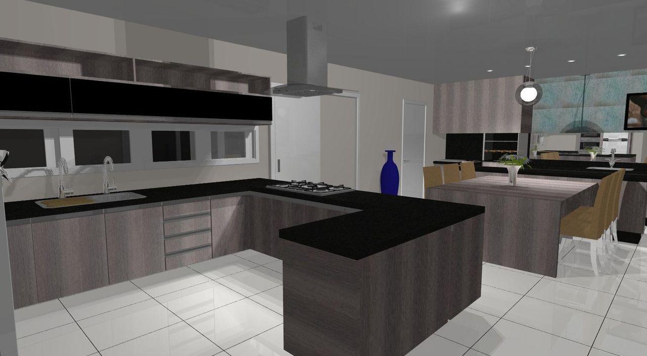 Cozinha Com Ilha Em U De Pablo Pires 50053 No Viva Decora