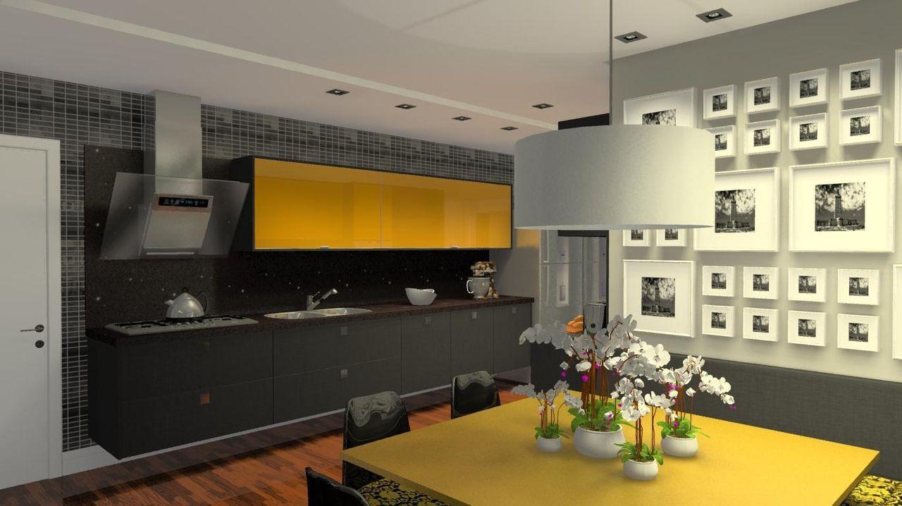 Cozinha Planejada Quadrada Resimden Com