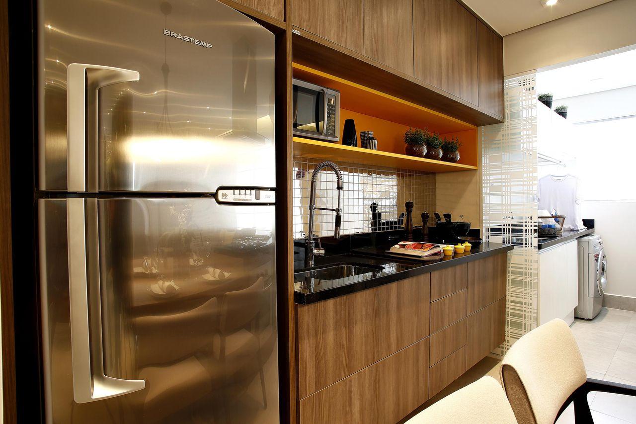Nicho Cozinha Americana Cozinha Com Bancada Em Quartzo Stone Branco
