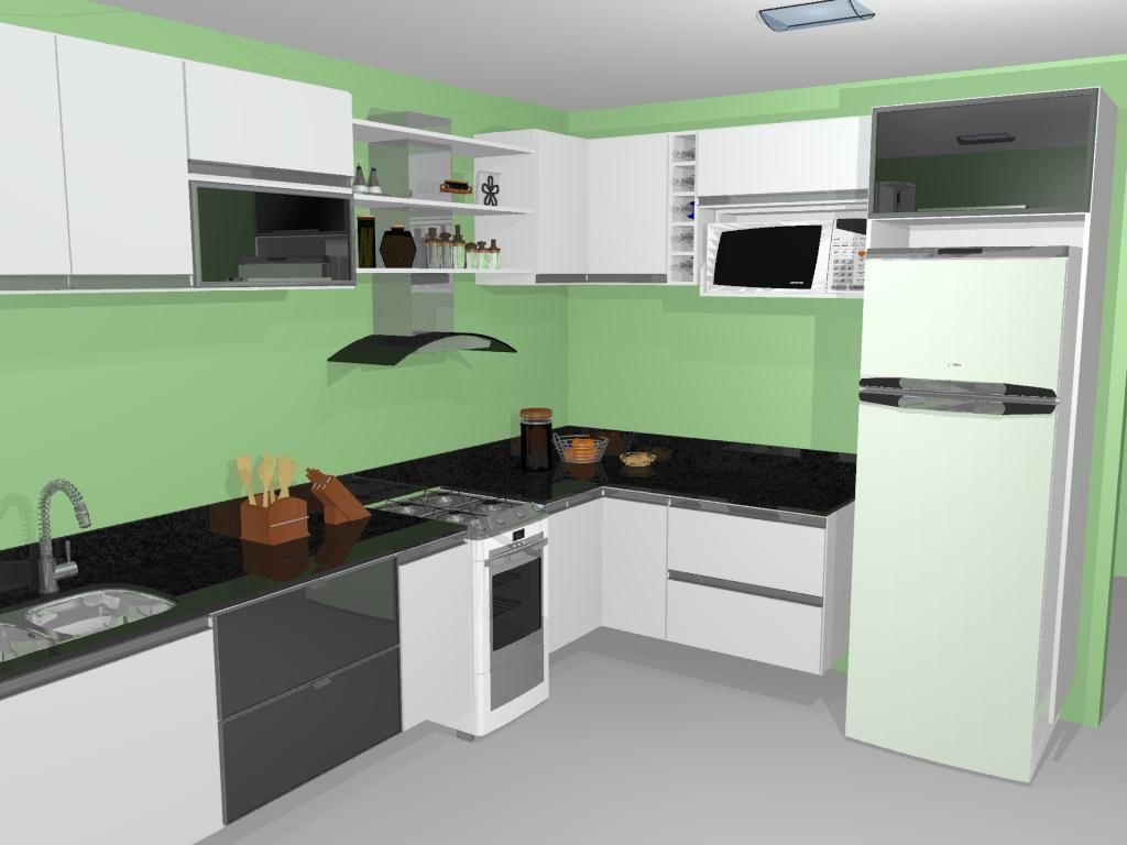 Cozinha Grande Branca De Joalisson Andrade 56313 No Viva Decora