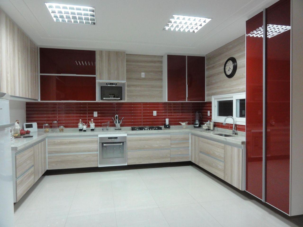 Cozinha Planejada Vermelha E Branca Imagem U A Cozinha Vermelha