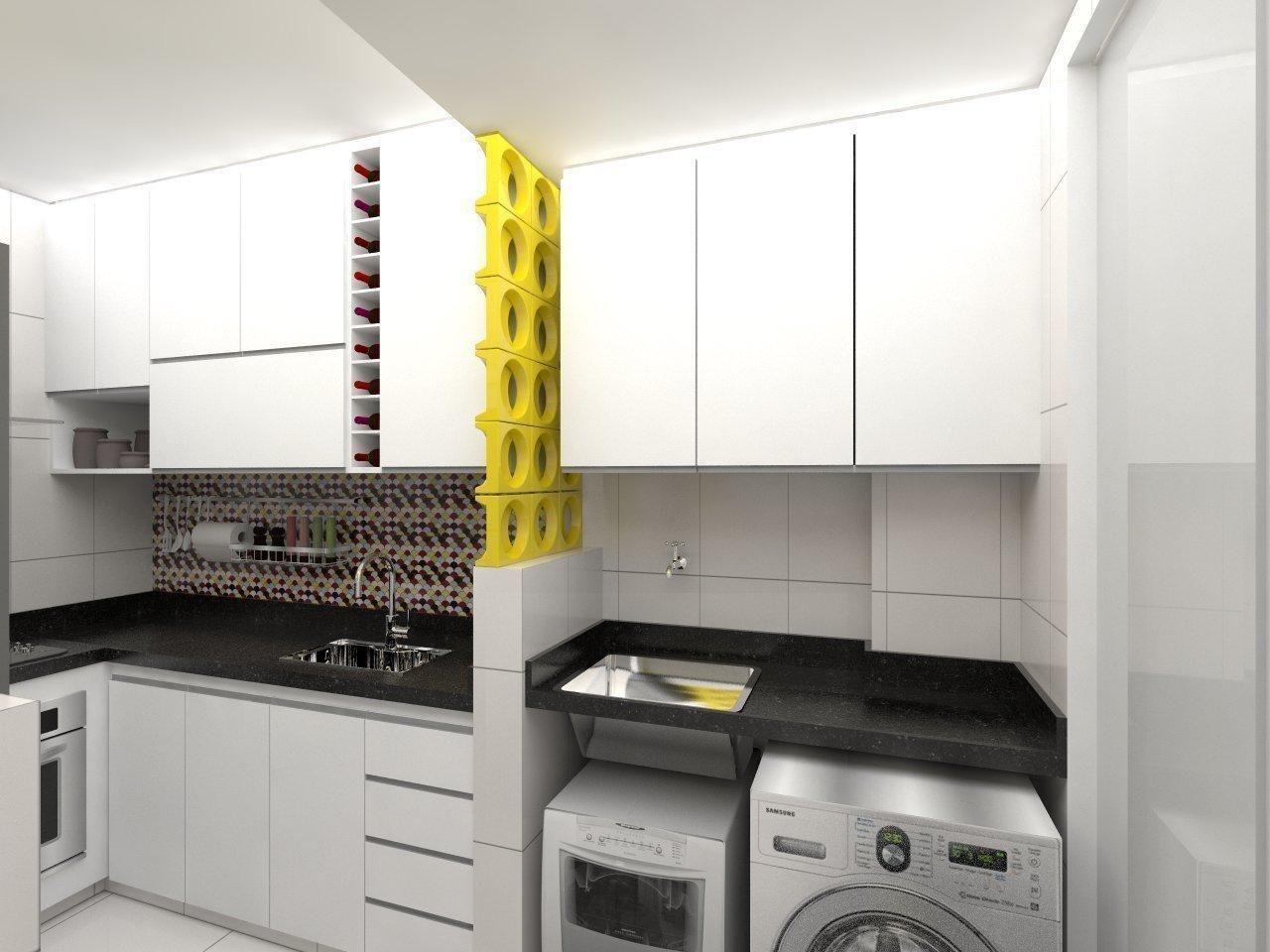 Cozinha Pequena Com Lavanderia Integrada Oppenau Info
