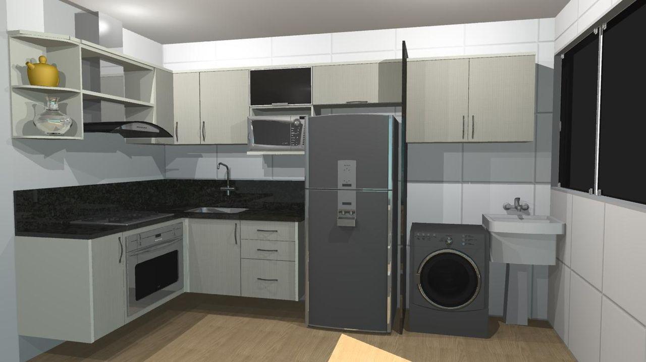 Cozinha Integrada Com Lavanderia De Danielle Billo Billo 40226 No