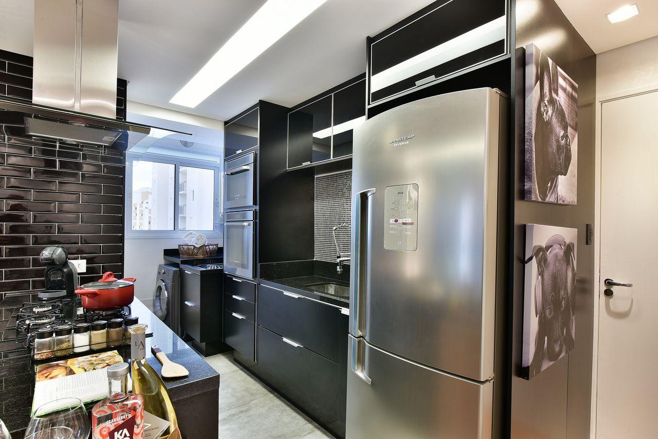 Cozinha Moderna Com Arm Rio Preto E Tijolinho De Tetriz Arquitetura