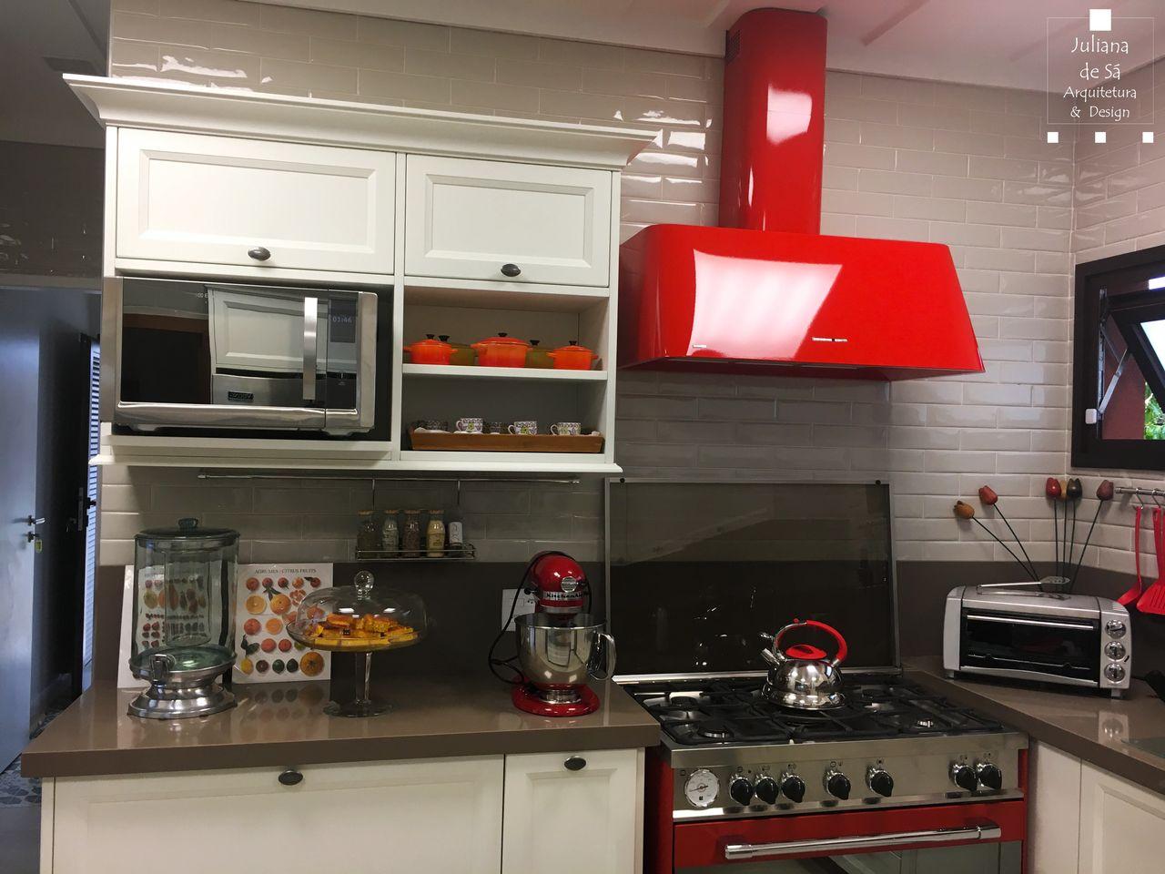 Cozinha Moderna Com Eletrodom Sticos Coloridos De Juliana De S
