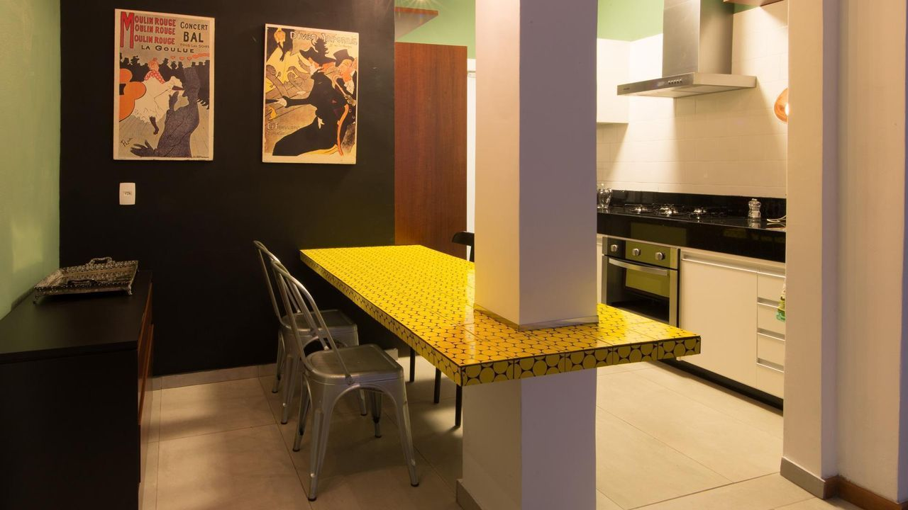 Cozinha Planejada Com Ilha No Meio Cozinha Planejada Amarela With