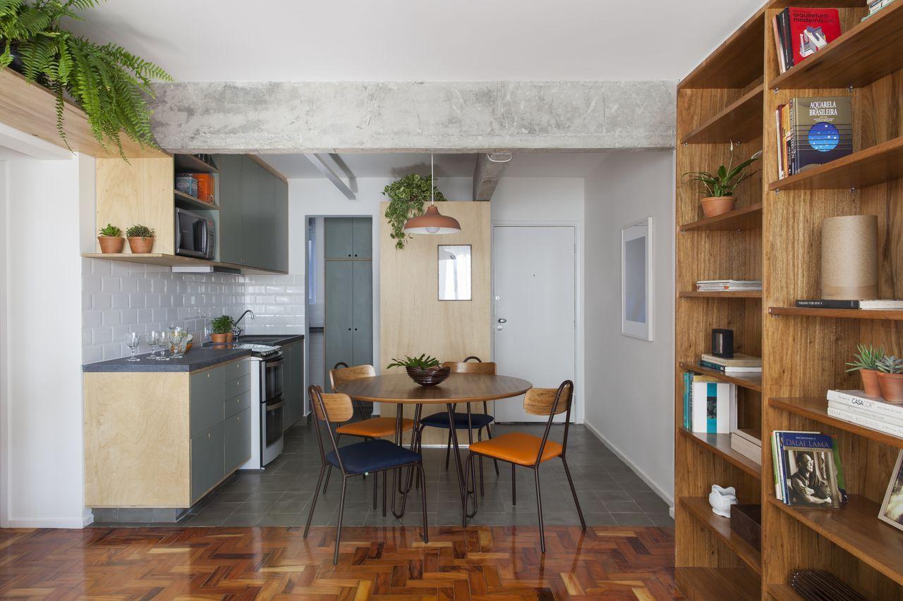 Cozinha Neutra Com Copa Integrada Sala De In Arquitetura 148589  -> Ver Sala Planejada