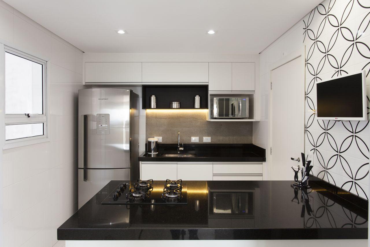 Decorao Cozinha Preta E Branca Decorao Cozinha Planejada Cozinha
