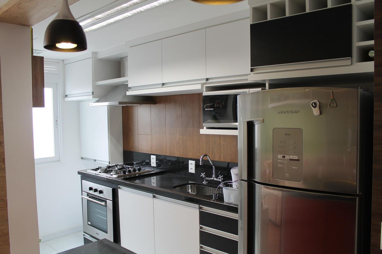 Cozinha Americana Planejada Branca Simple Pia De Cozinha Com Pedra