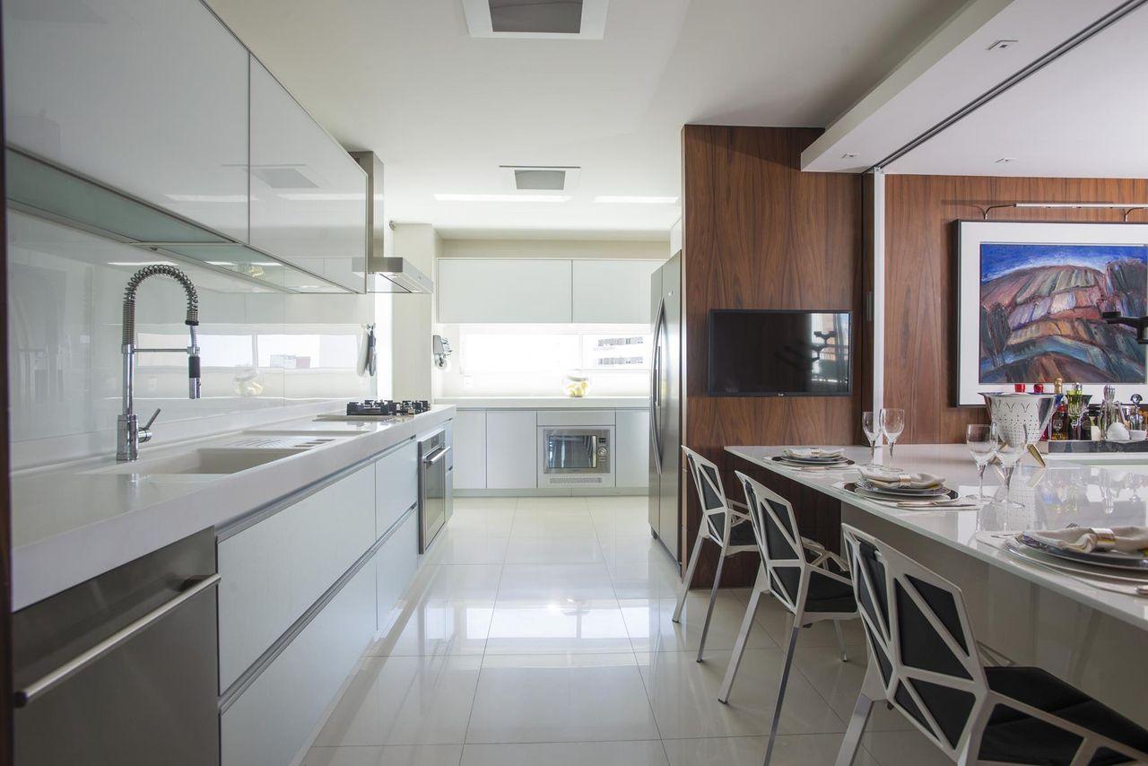 Cozinha Integrada A Sala De Jantar De Rodrigo Maia 133184 No Viva  -> Cozinha Integrada Com Sala De Jantar Pequena