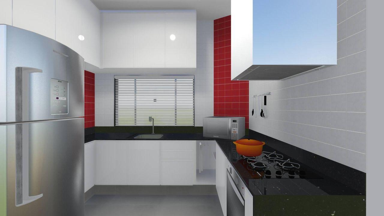 Cozinha Planejada Vermelha E Branca Oppenau Info