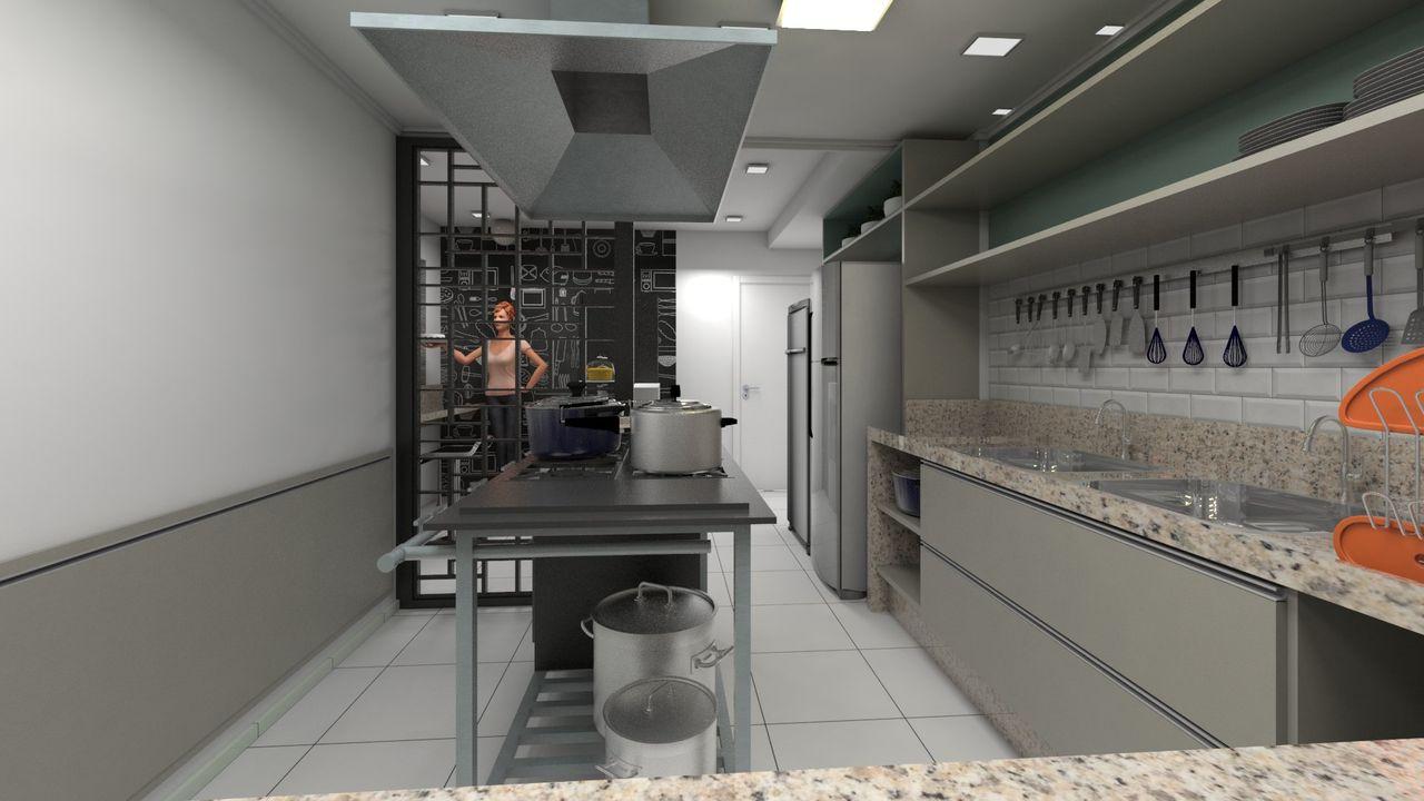 Cozinha Industrial De Projelm Arquitetura 171171 No Viva Decora