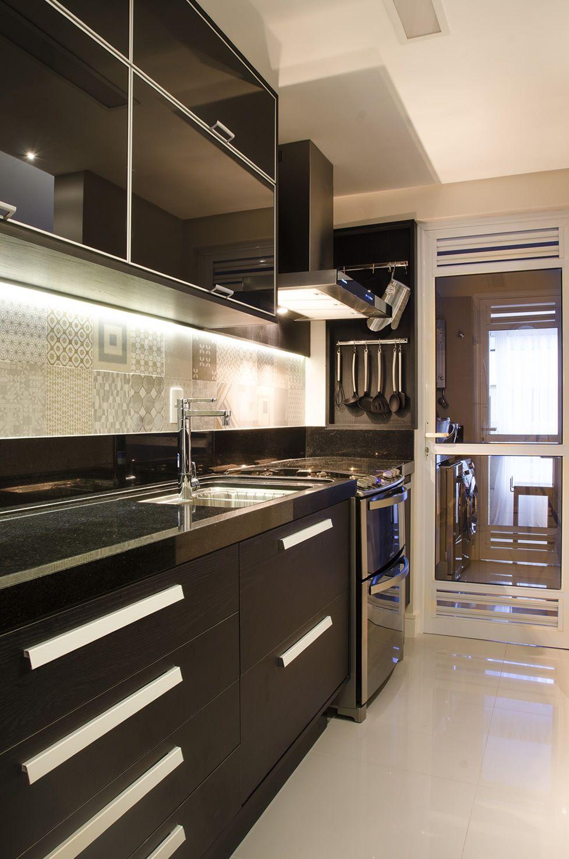 Cozinha Planejada Preta Fosca De Favorita Movdecor Favorita 134092