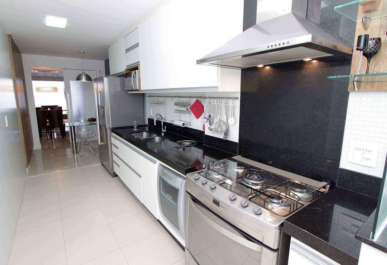 Cozinha Planejada Preta E Branca De Lorrayne Zucolotto 49628 No