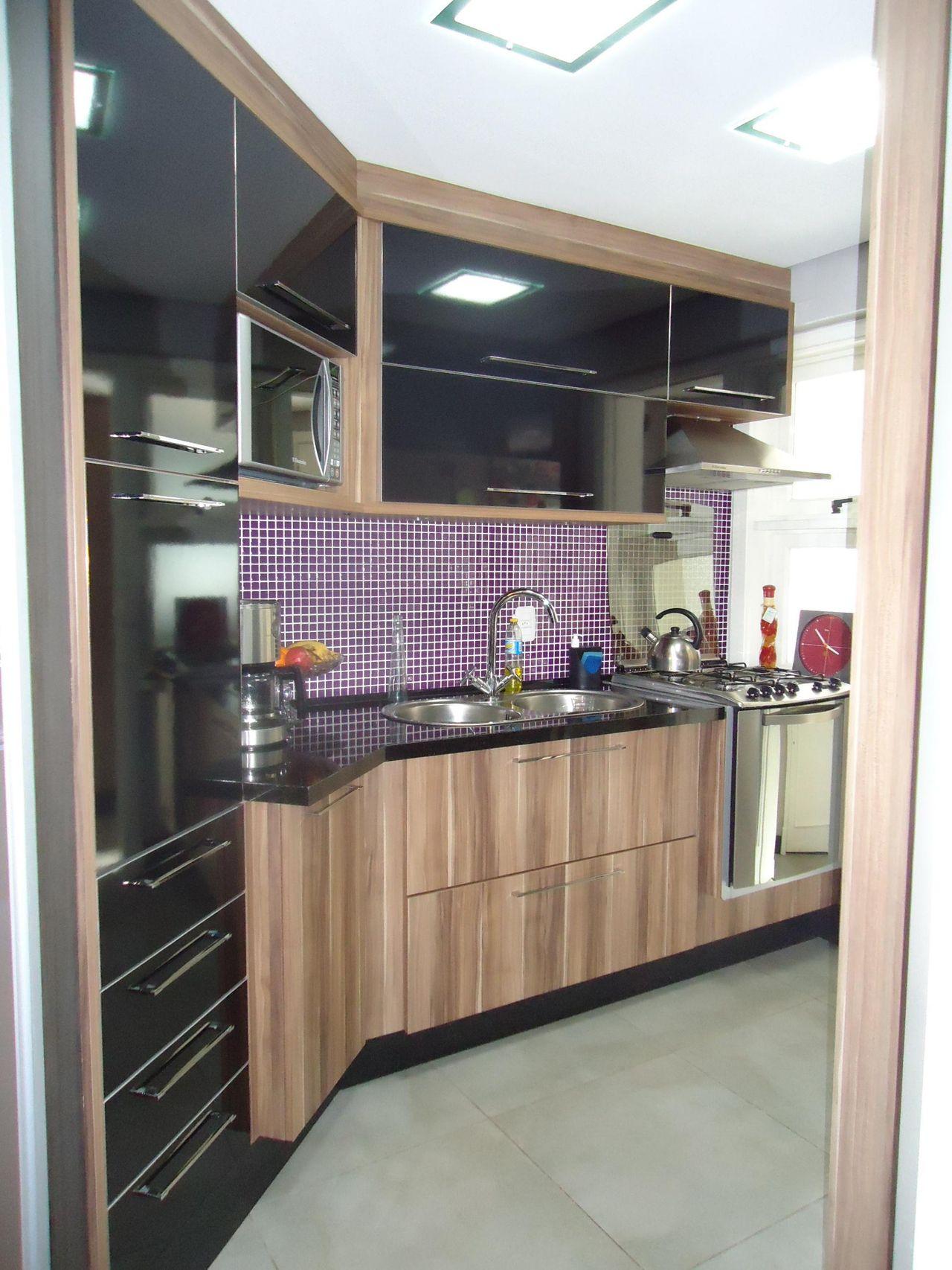 Cozinha Planejada Preta E Marrom De Leandra Saldanha 46926 No Viva