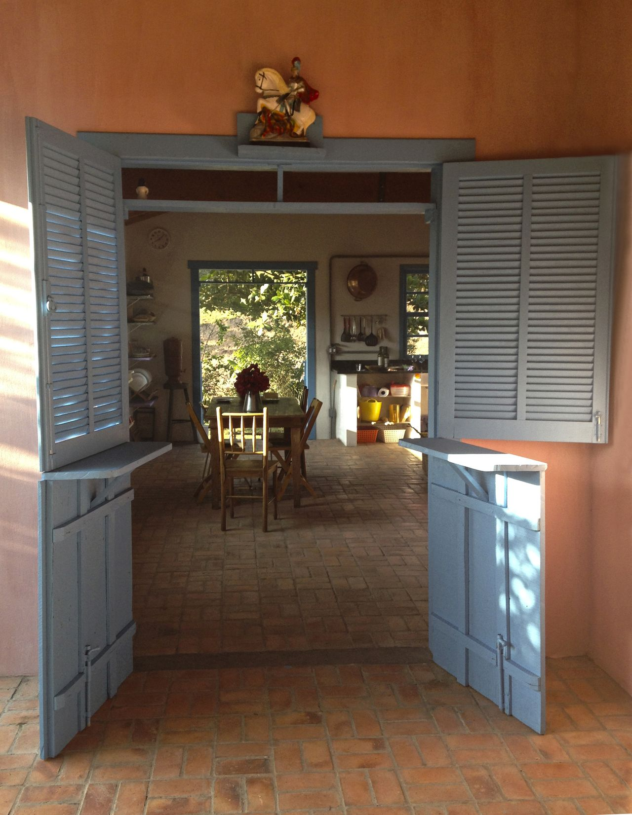 Acesso Da Varanda A Sala De Jantar Cozinha De Ilha Arquitetura