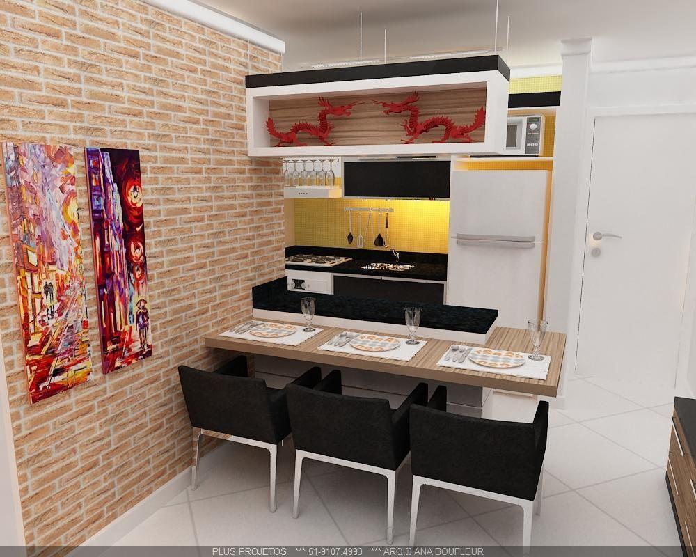 Cozinha Americana Com Bancada De Madeira De Online Projetos 78749