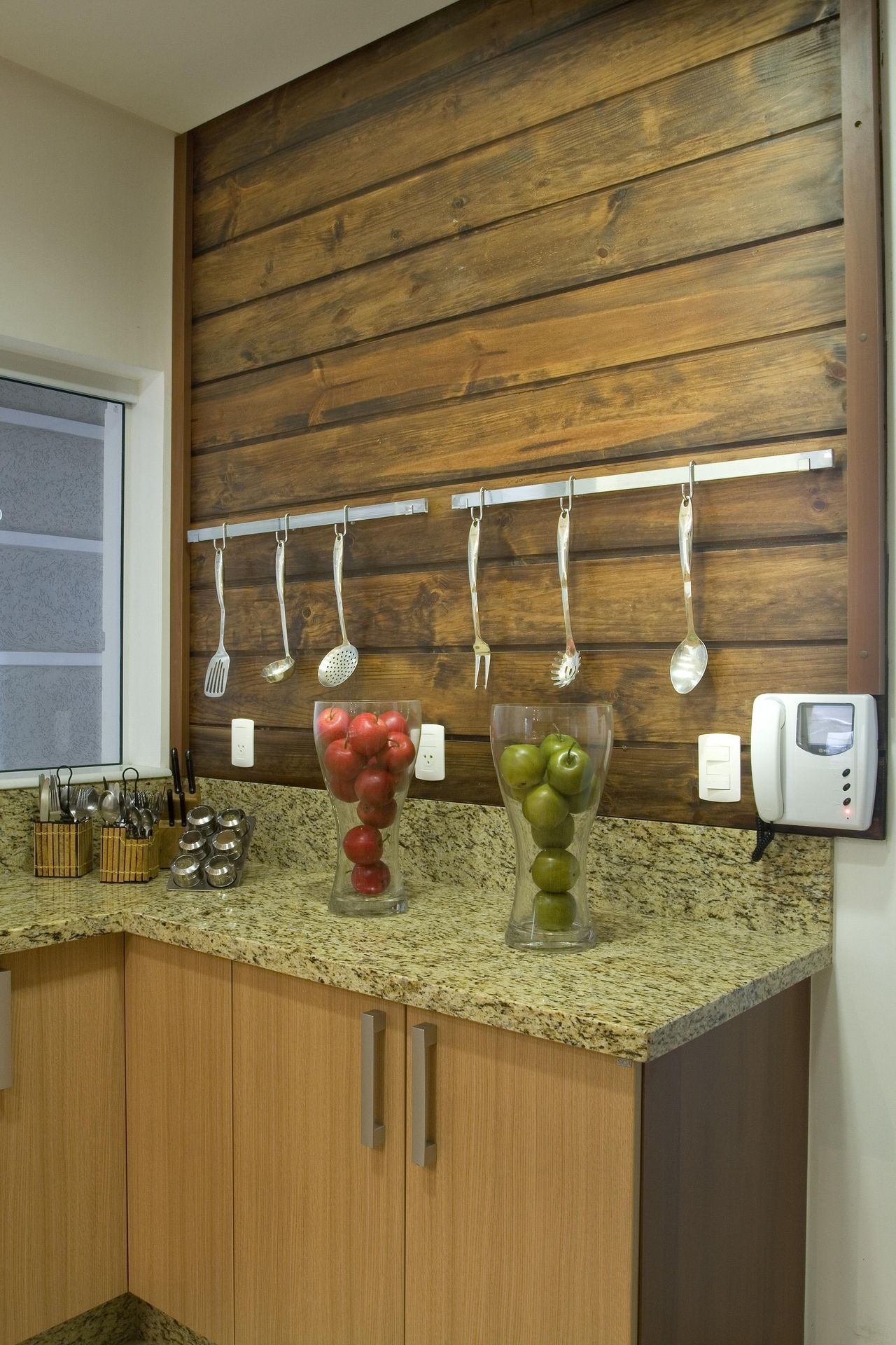 Cozinha Com Painel De Madeira R Stica