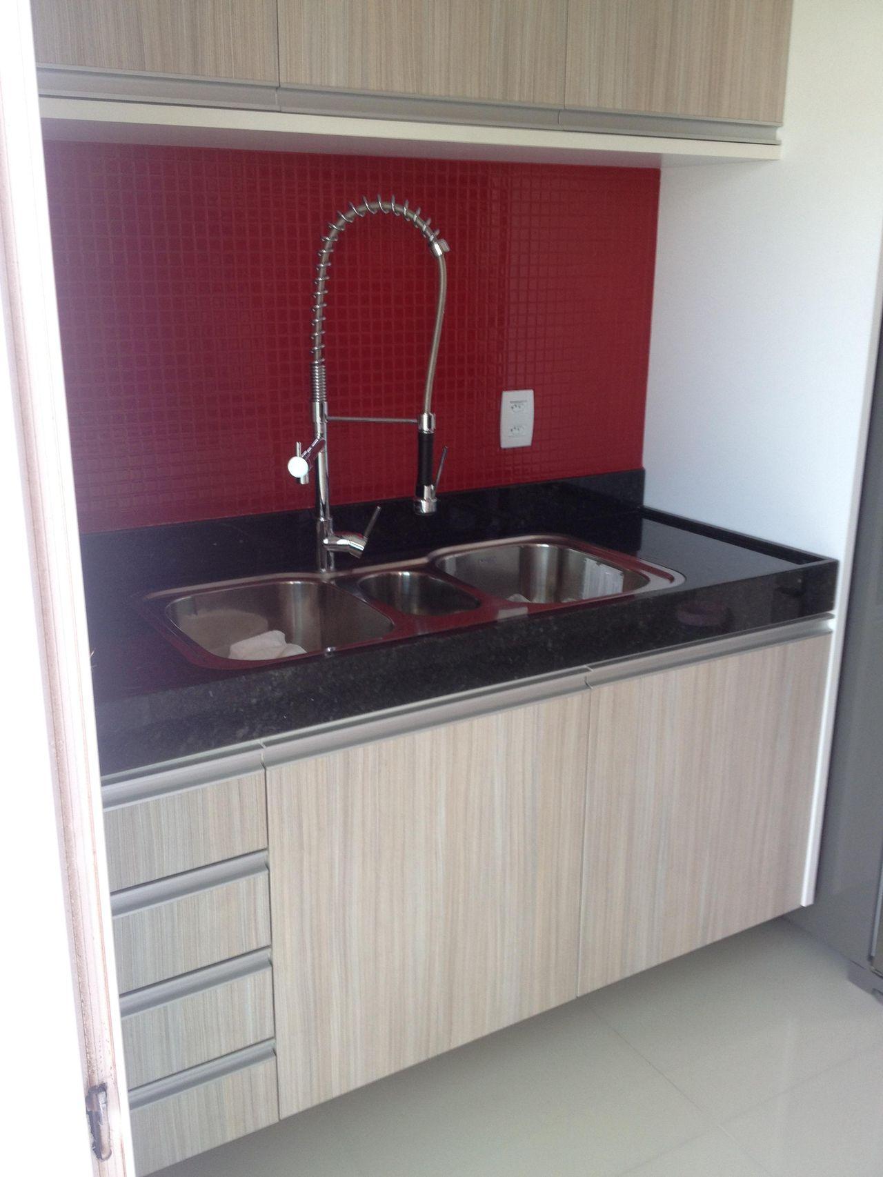 Cozinha Com Pastilhas Vermelhas De Amaury Junior 17375 No Viva Decora
