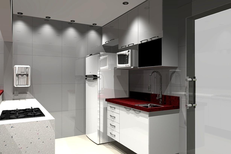 Cozinha Com Pia De Granito Vermelha De Jorge Forti 60344 No Viva