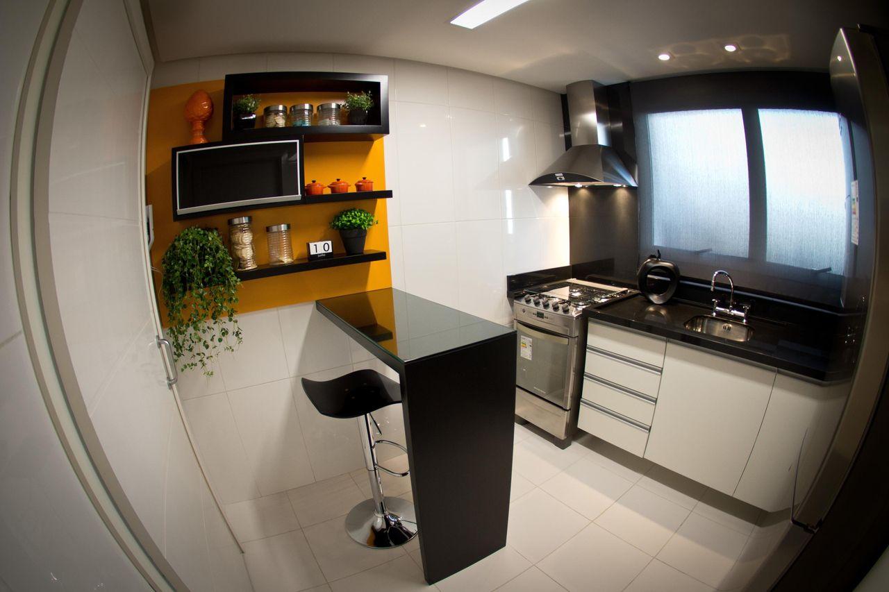 Cozinha Pequena Com Bancada Preta De Inova Arquitetura 96618 No