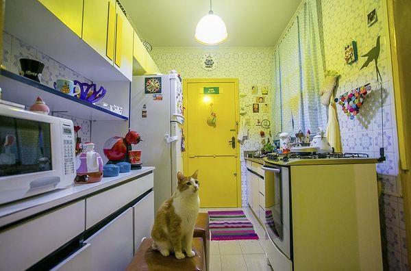 cores de casas decoração cozinha amarelo - cores de tintas