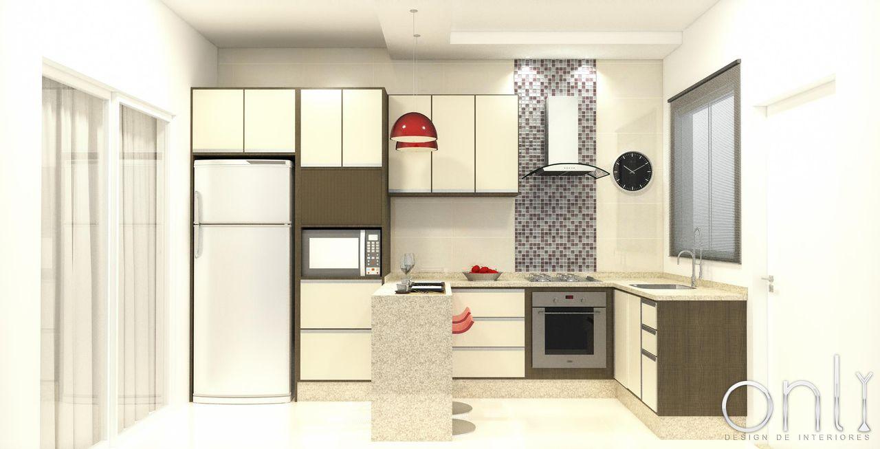 Cozinha Planejada De Only Design De Interiores 37901 No Viva Decora
