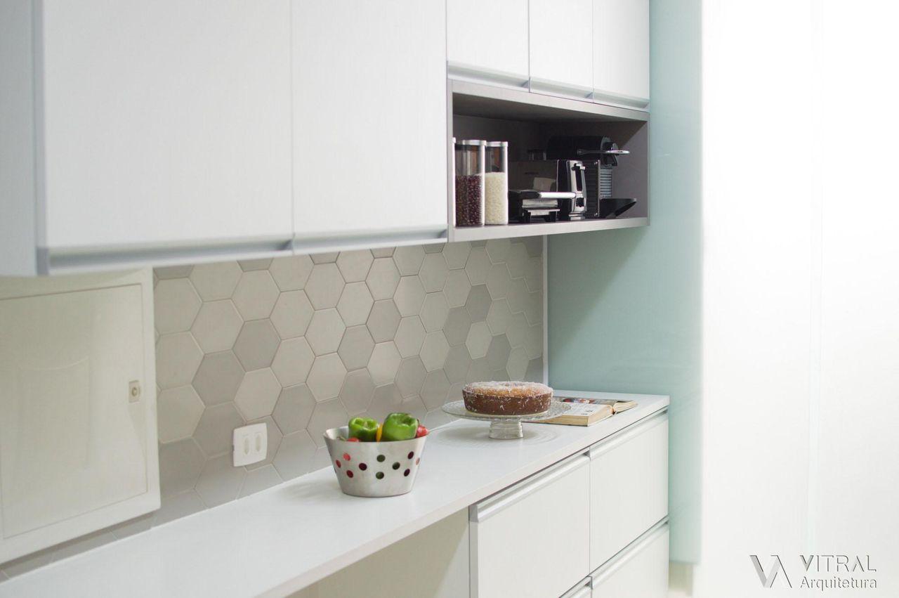 Detalhe Bancada Seca E Revestimentos Cozinha De Vitral Arquitetura