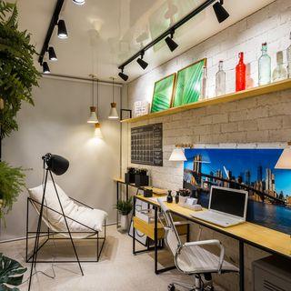 Projetos salas comerciais pequenas perfect escritrio - Piso pequeno moderno ...