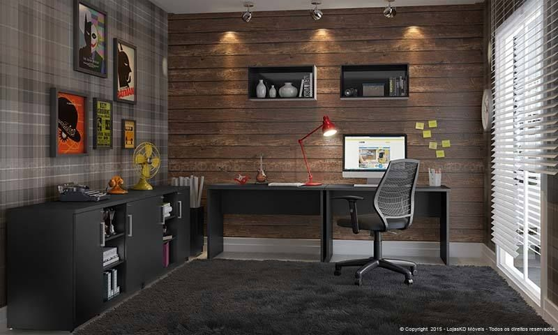 decorao escritrio moderno com preta lojaskd
