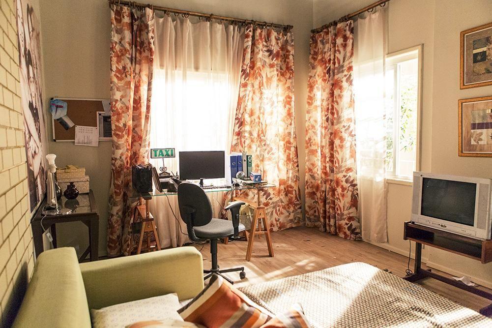 Decoração Espaço Para Home Office Com Cortina Colorida Casaaberta 21112