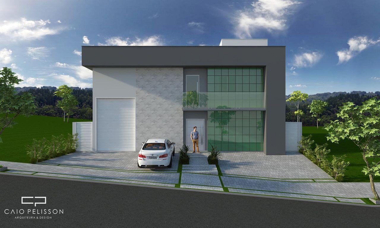 Favoritos Fachada Moderna de Galpão com Sacada de Vidro de Arquiteto Caio  CJ96