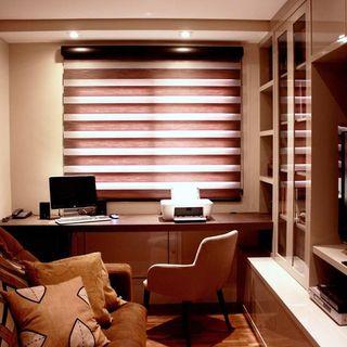 08626de320 Home Office em tons de marrom e bege. Archduo Arquitetura. Decoração Sala  de banho Banheiro do casal com duas cubas archduo 34871