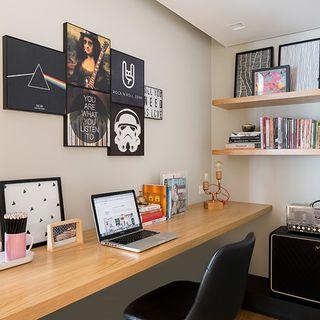 Home office home Ideas Home Office Estilo Escandinavo Com Quadros Pop Viva Decora Home Office Pequeno Decoração 200 Fotos Dicas Ideias Viva