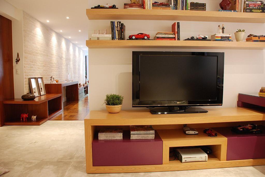Home Office Integrada Com Sala De Estar De Karen Pisacane   20241 No Viva  Decora