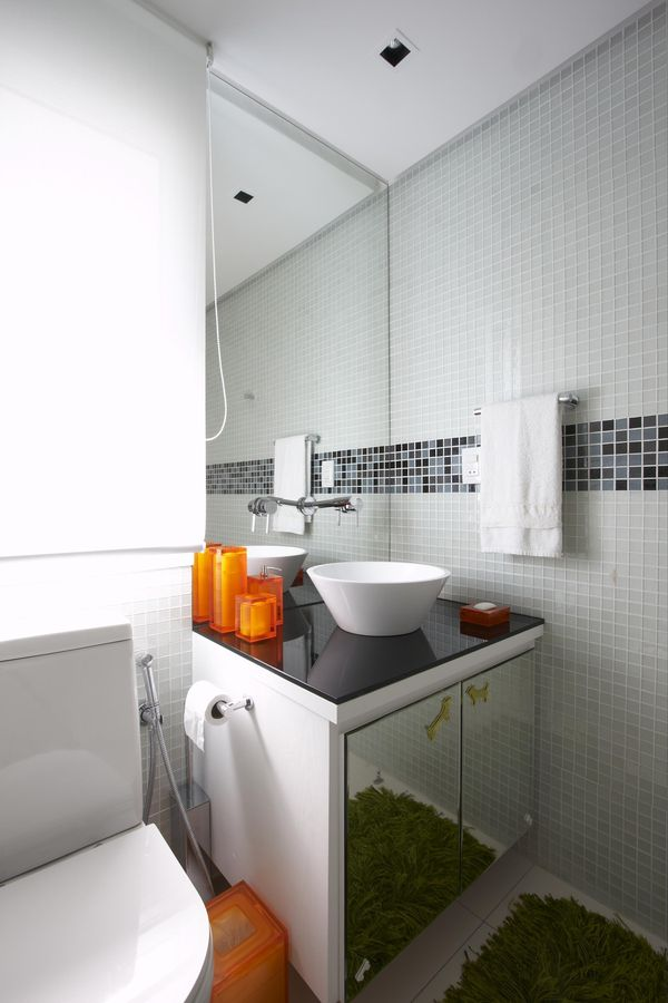 como decorar um banheiro - pastilhas