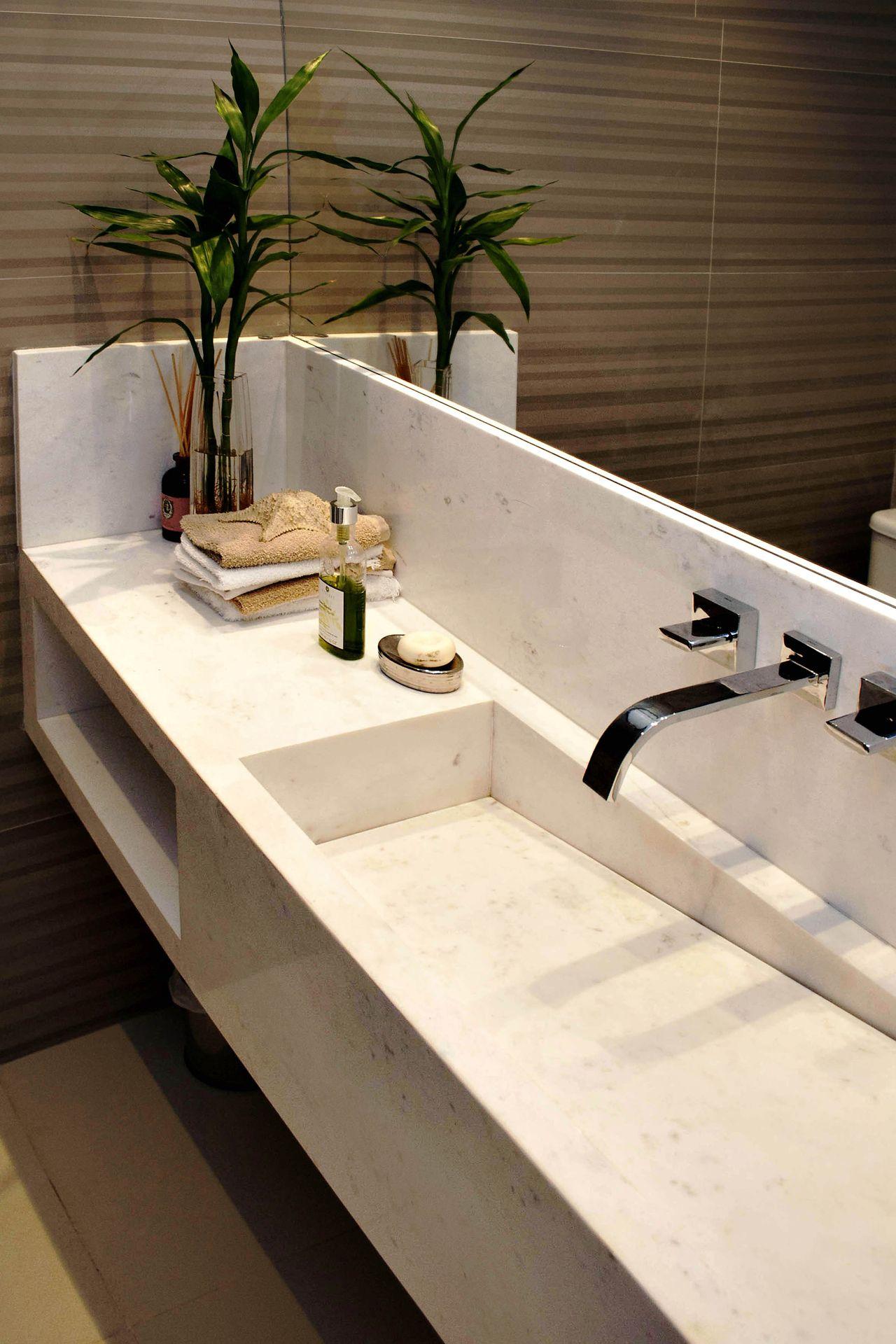 lavabo cuba esculpida em mà rmore de rawi arquitetura