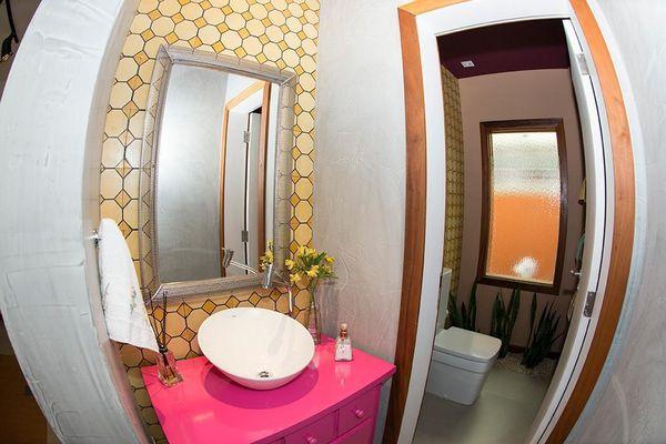Como decorar um banheiro gastando pouco 18 dicas! -> Gabinete De Banheiro Diy