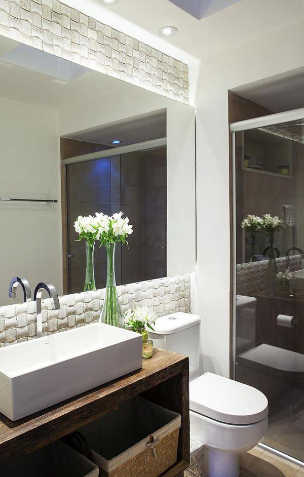como decorar um banheiro - flores