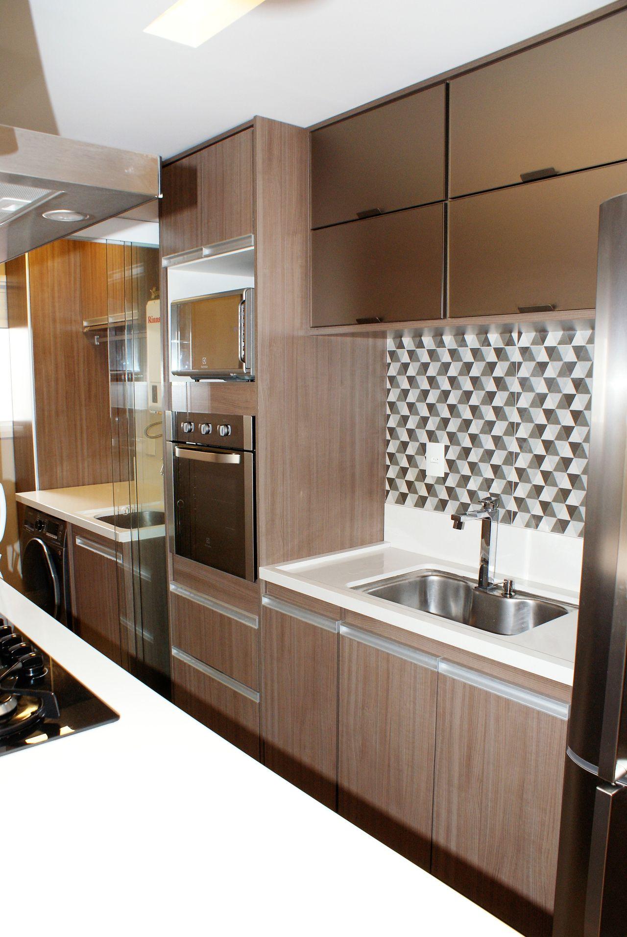 Lavanderia Integrada Com A Cozinha Americana De Scopo Design Moveis