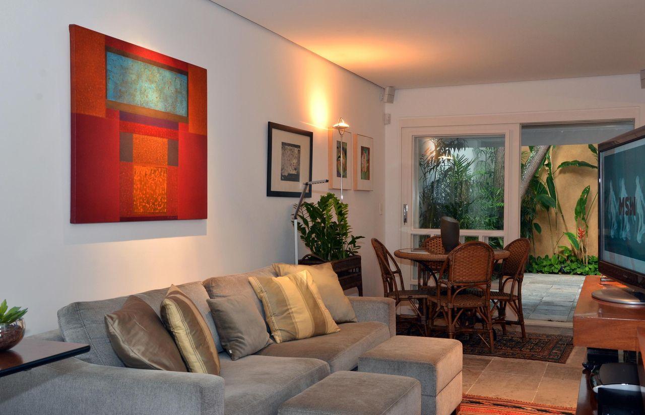 Quadro Abstrato Vermelho Na Sala De Estar De Renata Romeiro 78483  -> Quadro Abstrato Sala De Jantar
