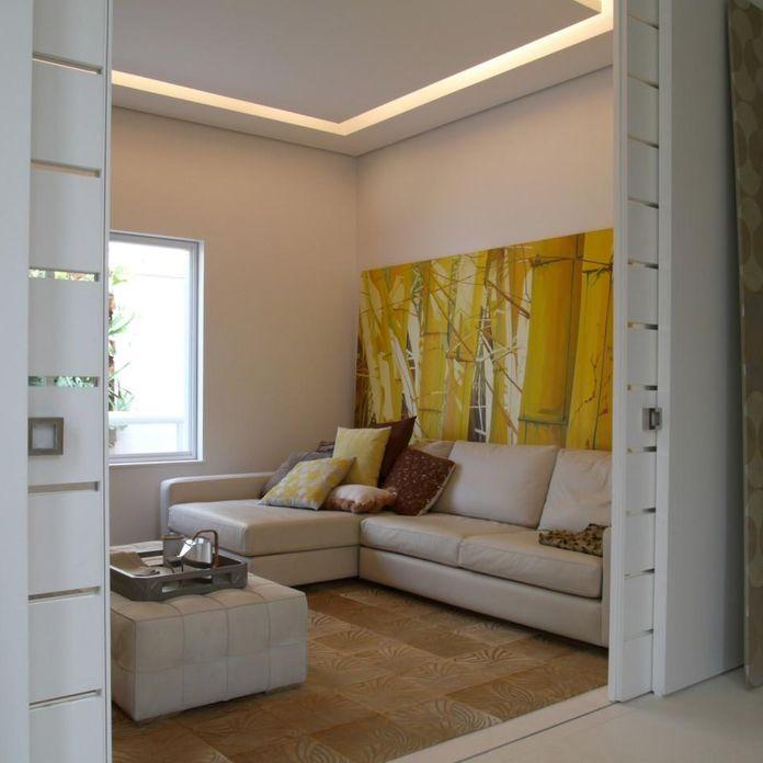 Sala De Estar Com Amarelo ~ Quadro grande amarelo na sala de estar de Denise Barretto  76078 no