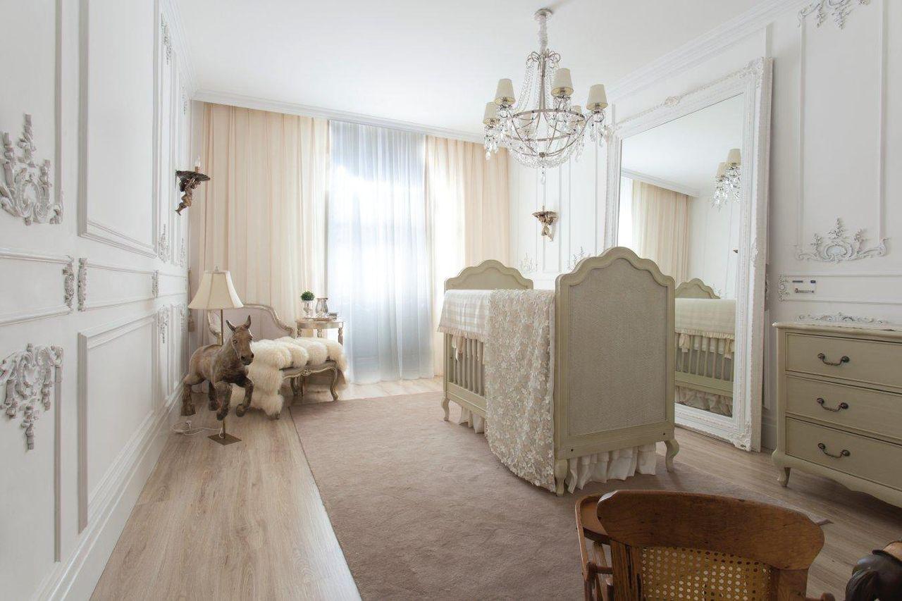 Quarto De Beb Com Espelho Grande De Michele Luz 104404 No Viva  ~ Decoração De Quarto Com Luzes E Quarto Simples Para Bebe