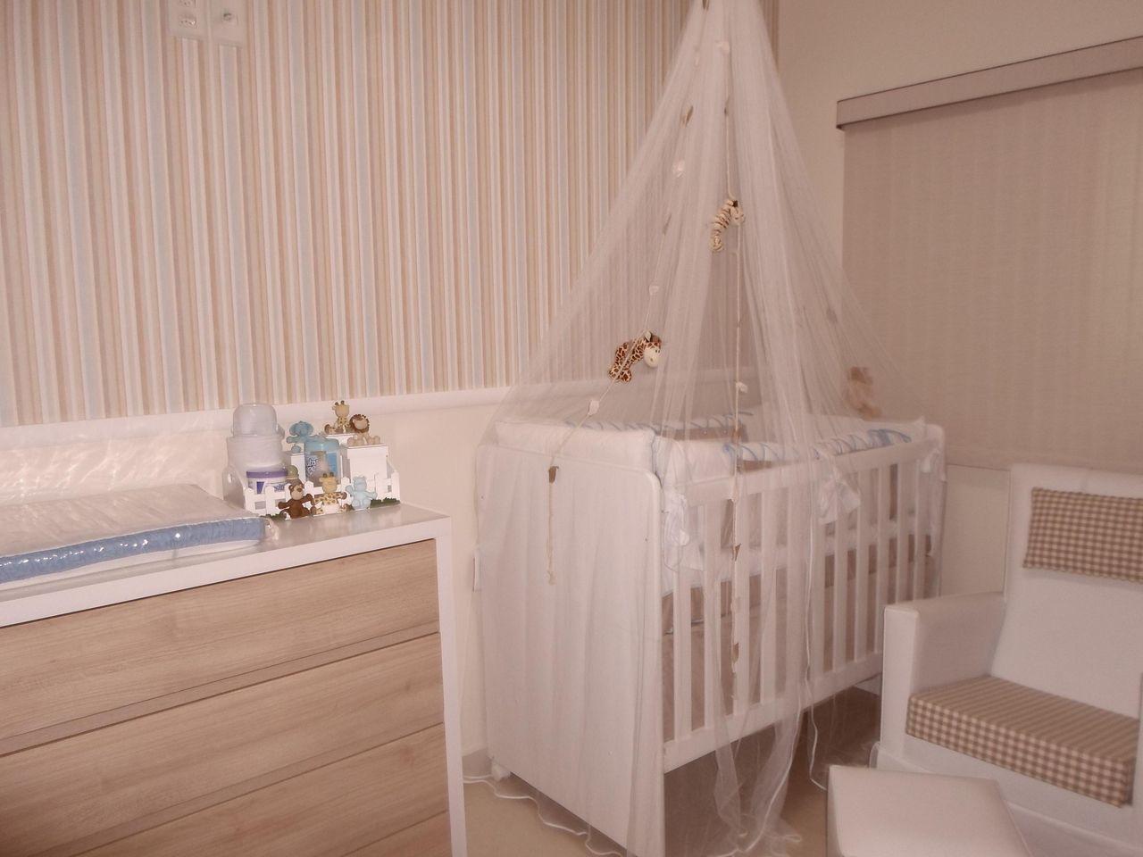 Papel De Parede Listrado Infantil De Espa O Au 41829 No Viva Decora ~ Mesa Quarto Infantil E Paredes Quarto De Bebe