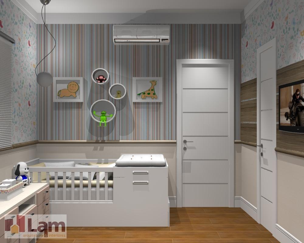 Papel De Parede Listrado De Lam Arquitetura Interiores 91564  ~ Papel Contact Para Quarto De Bebe