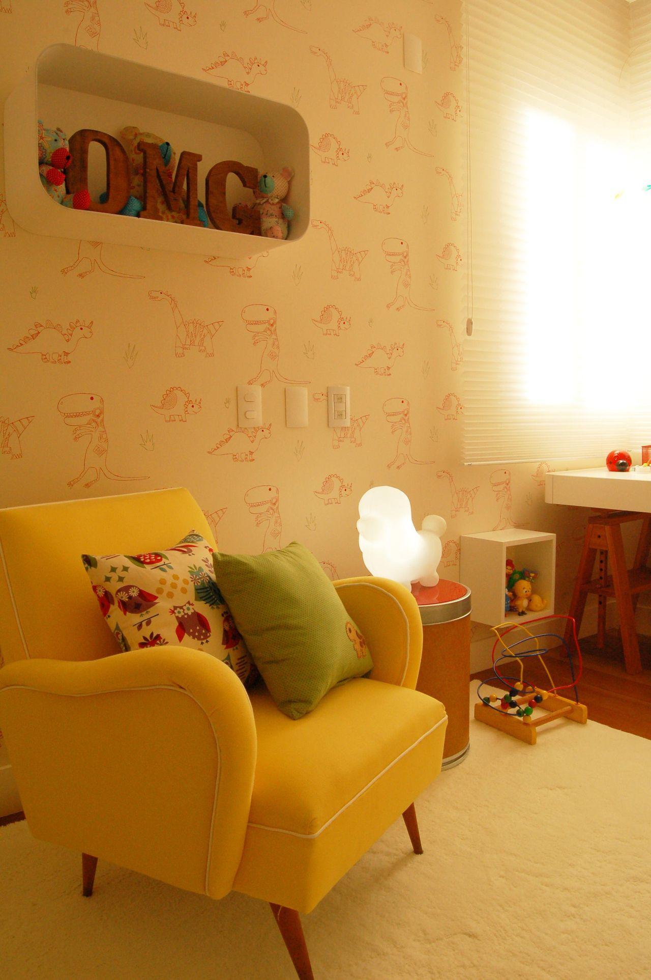 Poltrona Amarela De Sandro Clemes 85514 No Viva Decora ~ Poltrona Para Quarto Infantil E Decoração Simples Quarto
